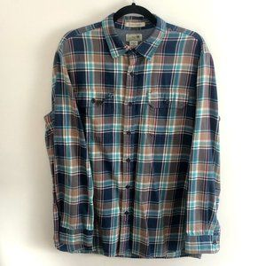 L.L. Bean Slightly Fitted Mens Flannel Button Down